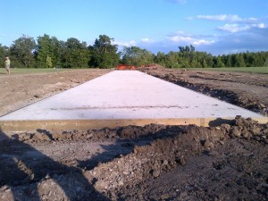3rd stage – concrete pad and drainage