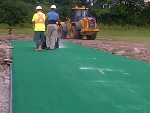4th stage – penultimate – turfwicket laying, silica addition