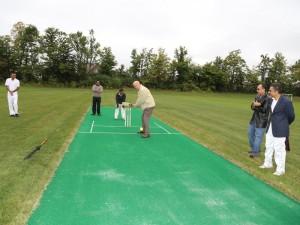 Councillor Henry Clarke honing his batting skills